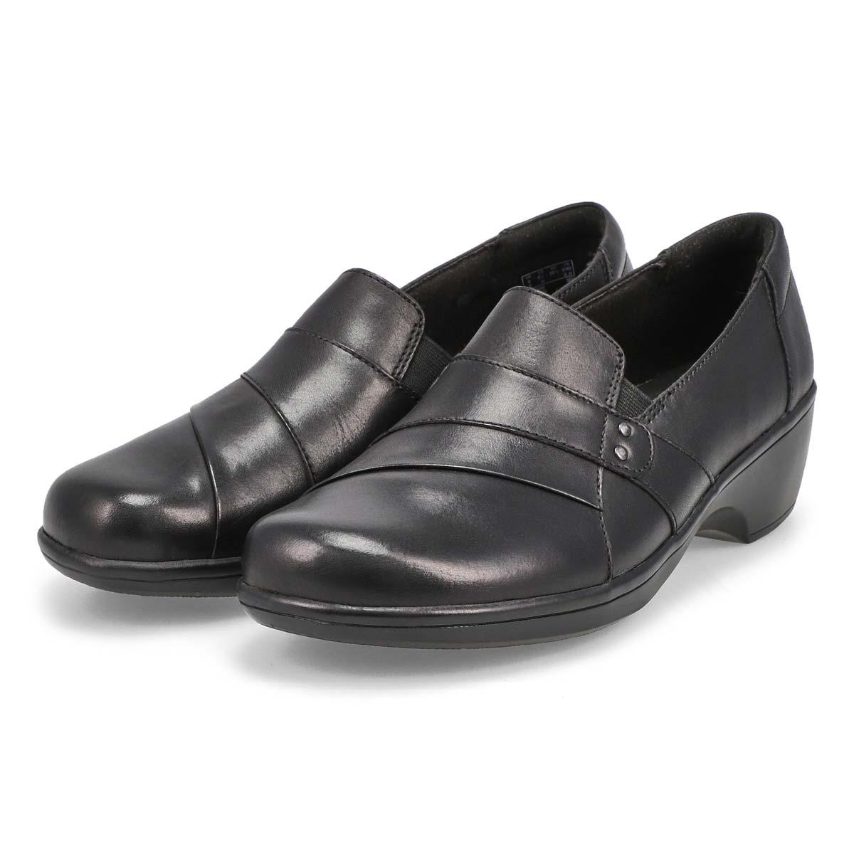 Lds May Marigold black dress loafer-WIDE