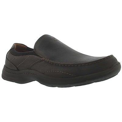 Clarks Men's NILAND ENERGY brown slip-ons - Extra wide
