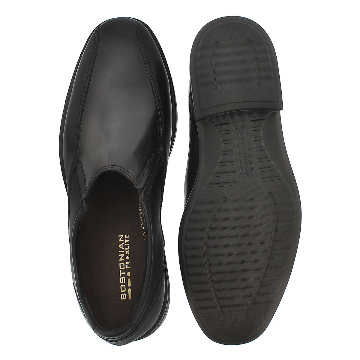 Mns Bardwell Step blk slip on dress shoe