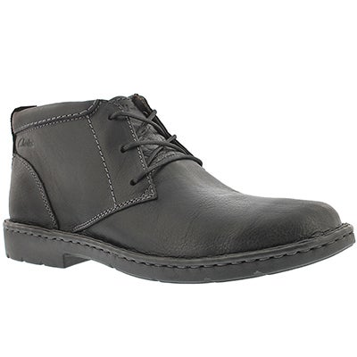 Clarks Men's STRATTON LIMIT black ankle boots - Wide