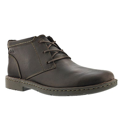 Clarks Men's STRATTON LIMIT brown ankle boots - Wide