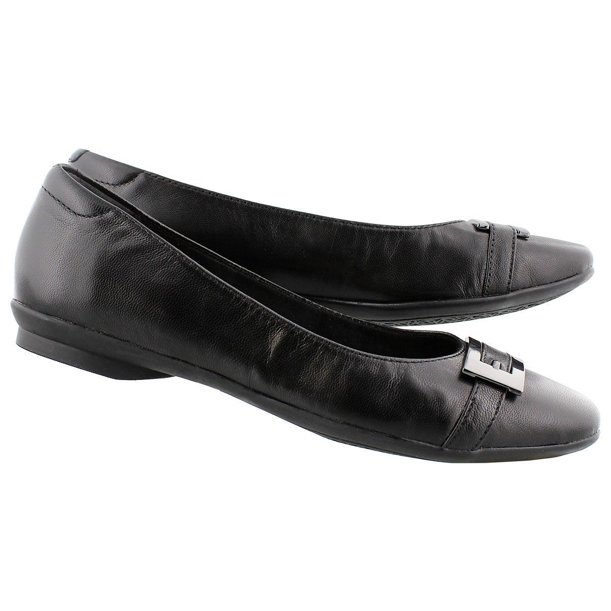 Lds Candra Glare black dress flat - WIDE