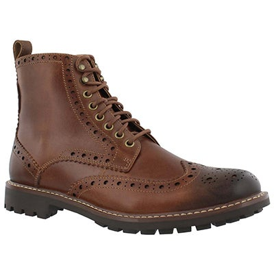 Mns MontacuteLord tan laceup ankle boot