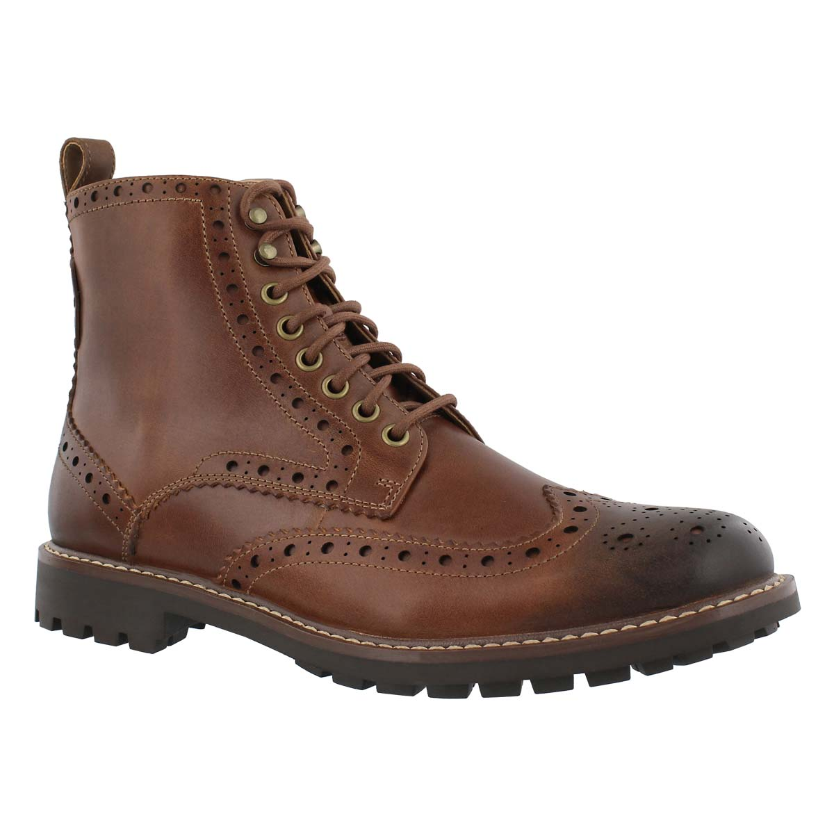 Men's MONTACUTE LORD tan laceup ankle boots