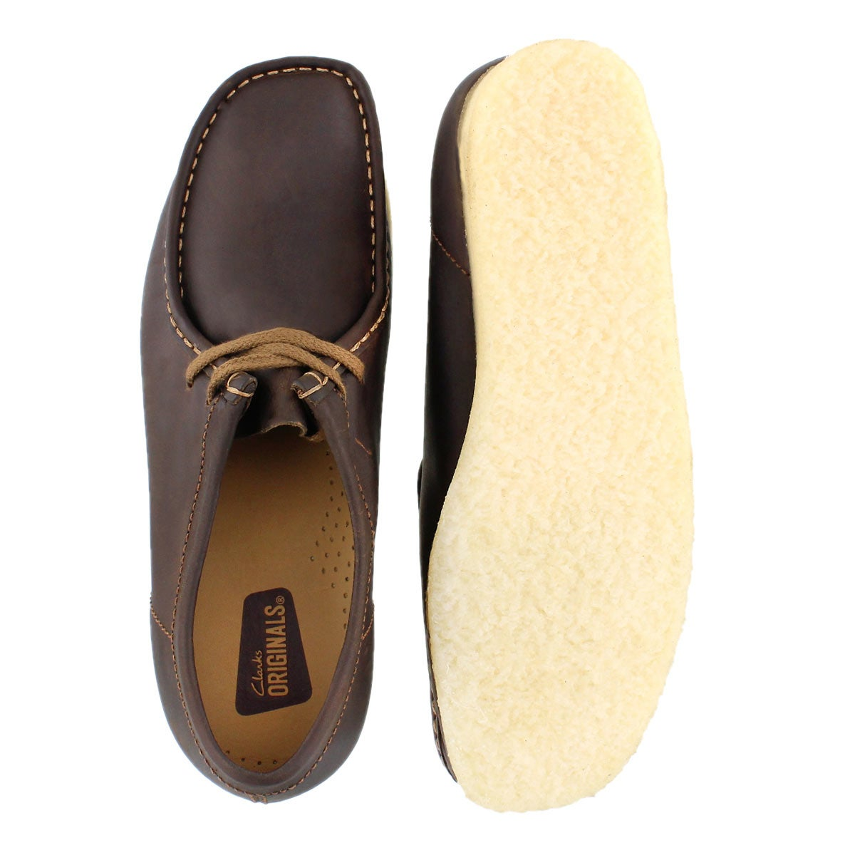 Mns Wallabee beeswax leather casual shoe