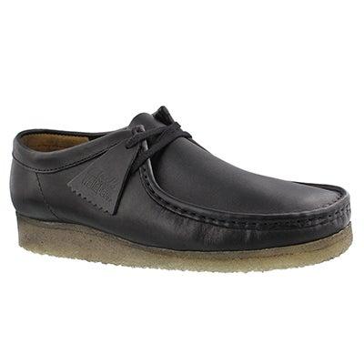 Mns Wallabee black casual shoe