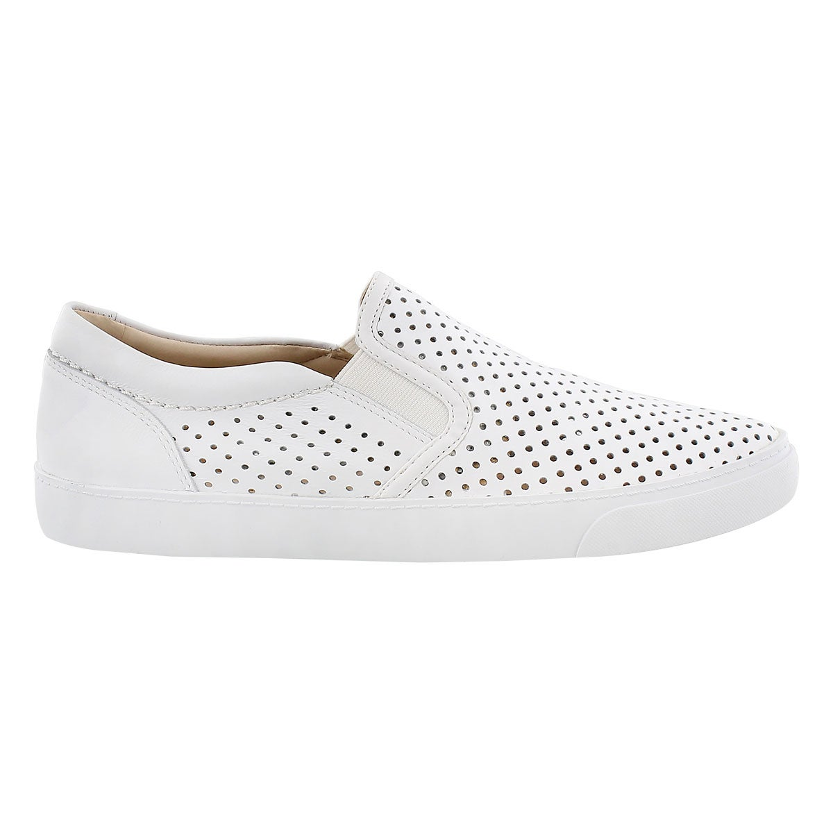 Lds Glove Puppet white leather slip on