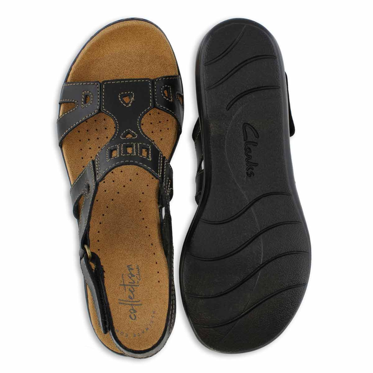 Lds Leisa Annual blk casual sandal-wide