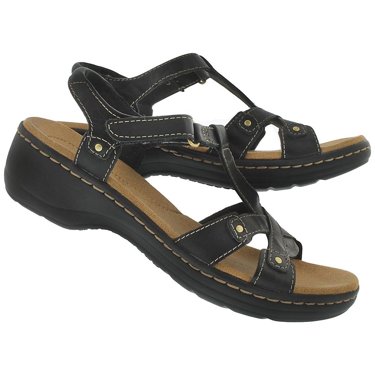 Lds Flute black casual sandal