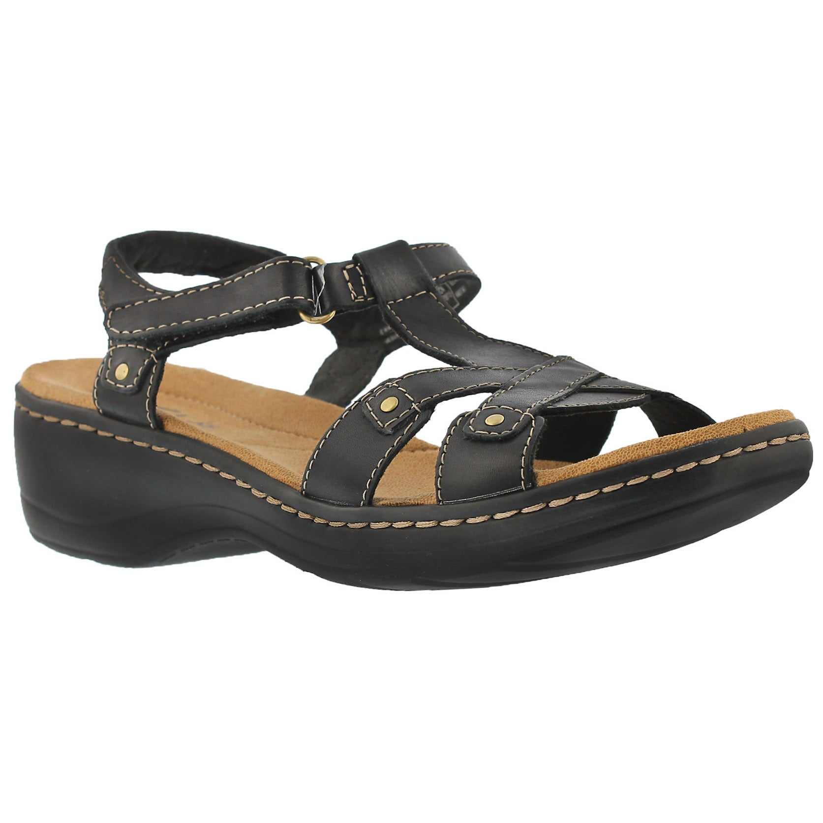 Women's FLUTE black casual sandals
