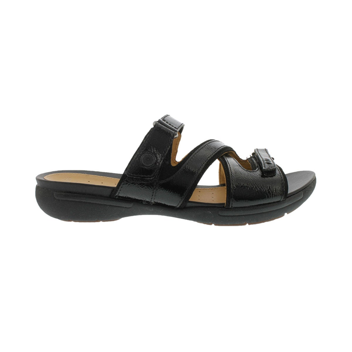 Lds Un.Verlee black casual slide sandal
