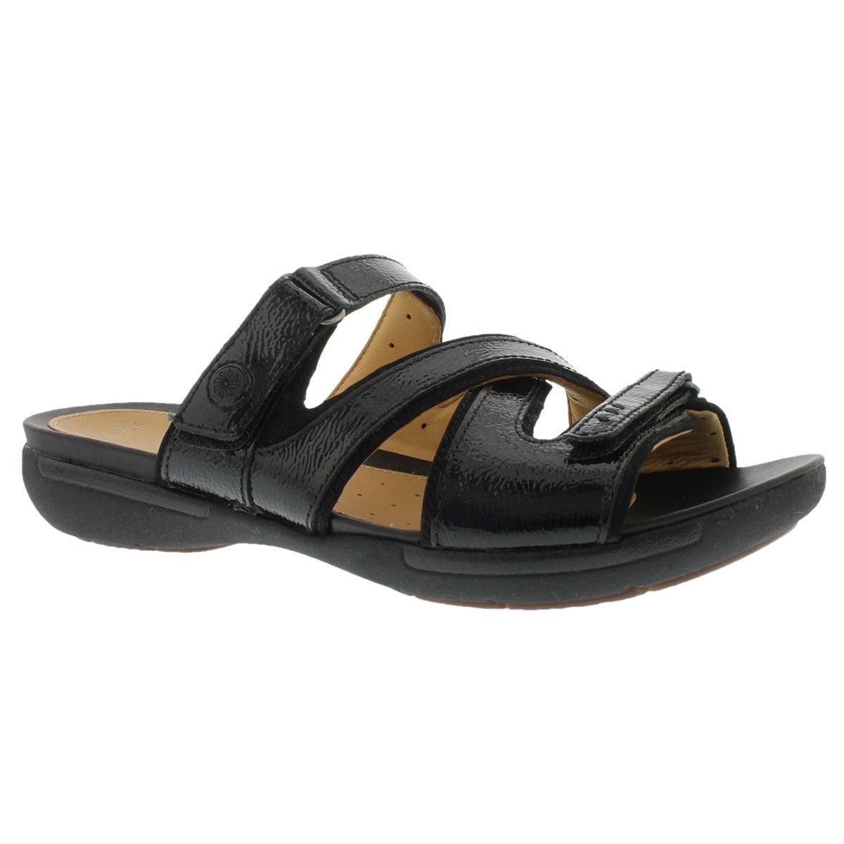 Lds Un.Verlee black casual slide sandal