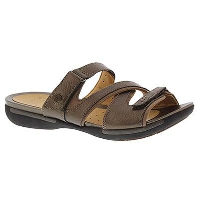 Clarks Women's UN.VERLEE bronze casual slide sandals