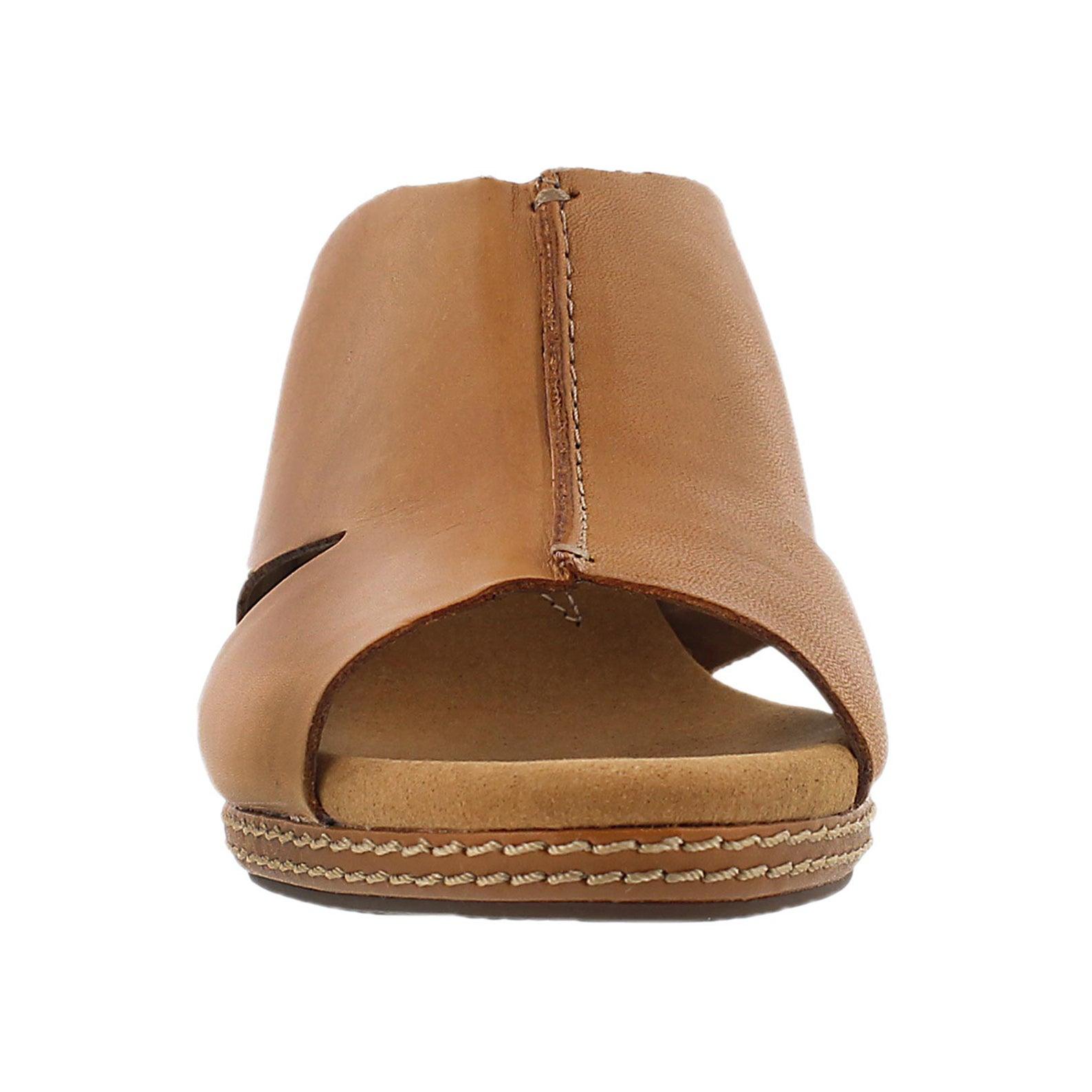 Lds Helio Island tan slide wedge sandal