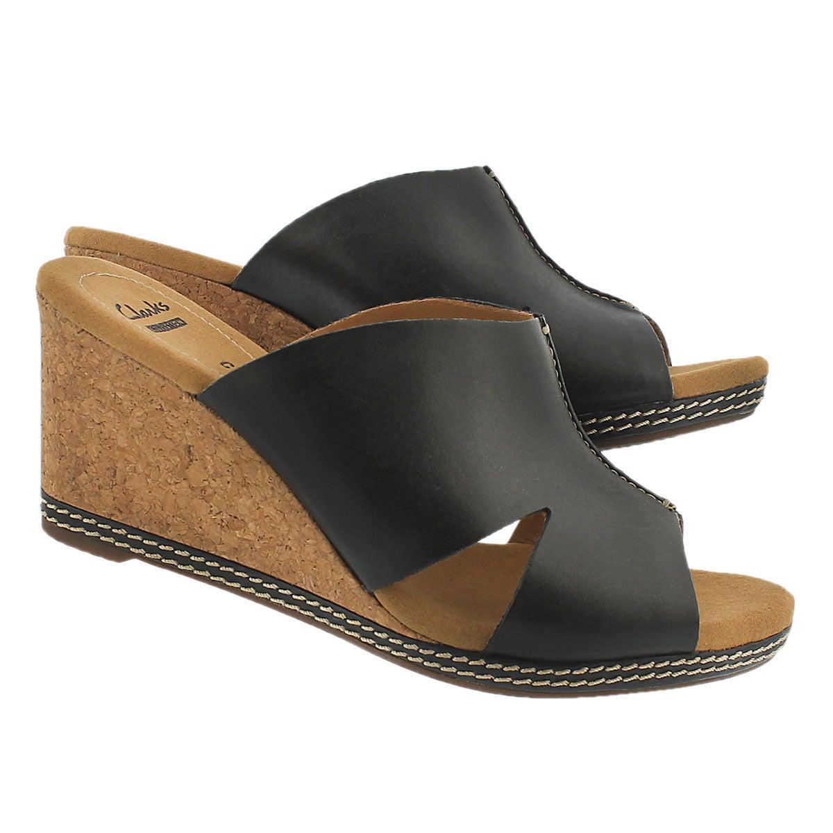 Sandale comp. Helio Island, noir, femmes