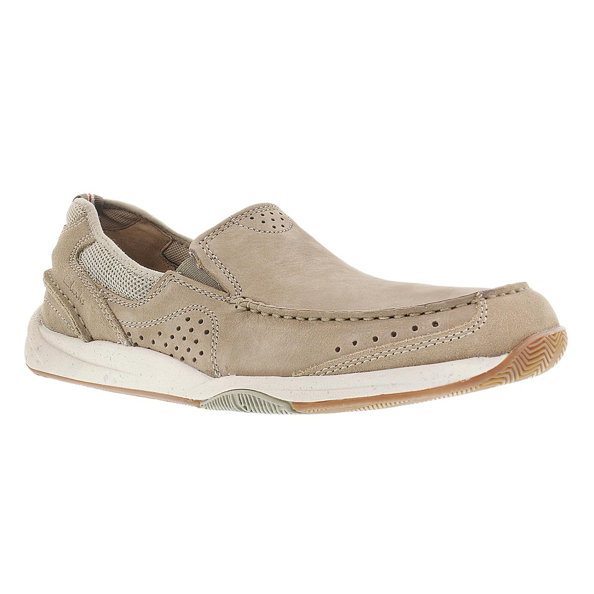Men's ALLSTON FREE taupe slip-on casual shoes