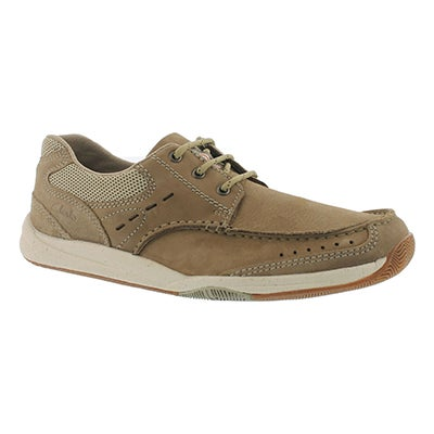 Clarks Men's ALLSTON EDGE taupe casual oxfords