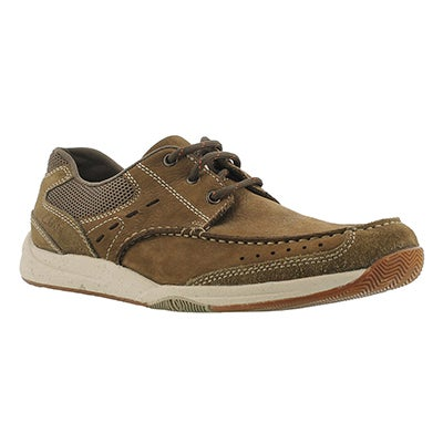 Clarks Men's ALLSTON EDGE olive lace-up casual shoes