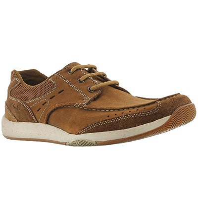 Clarks Men's ALLSTON EDGE tan lace-up casual shoes