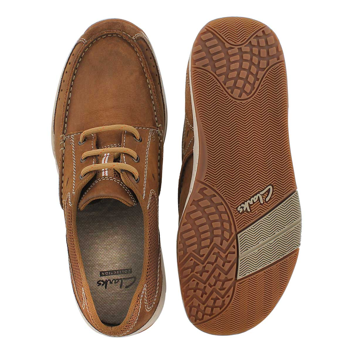 Mns Edge tan lace up casual shoe