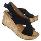 Lds Shae black wedge sandal