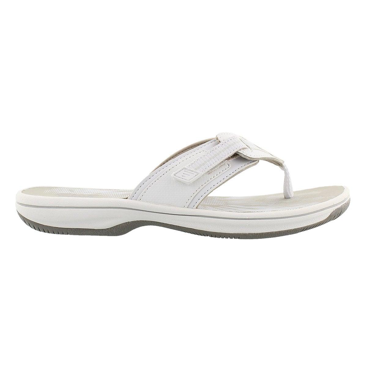 Sandale tong Brinkley Jazz, blanc, femme