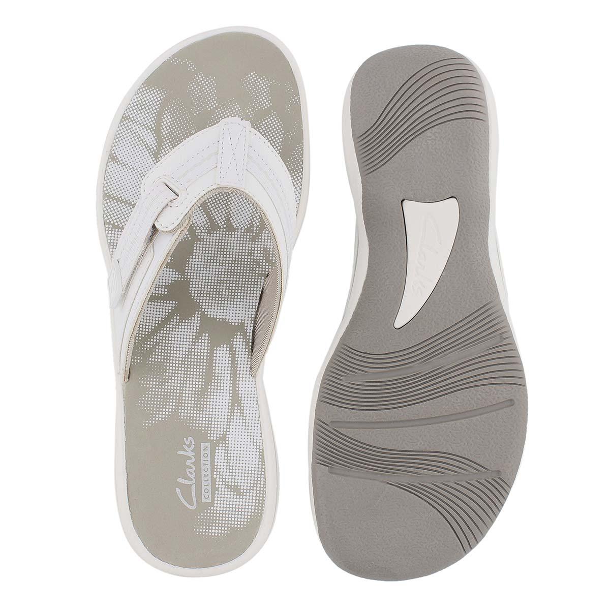 Lds Brinkley Jazz white thong sandal