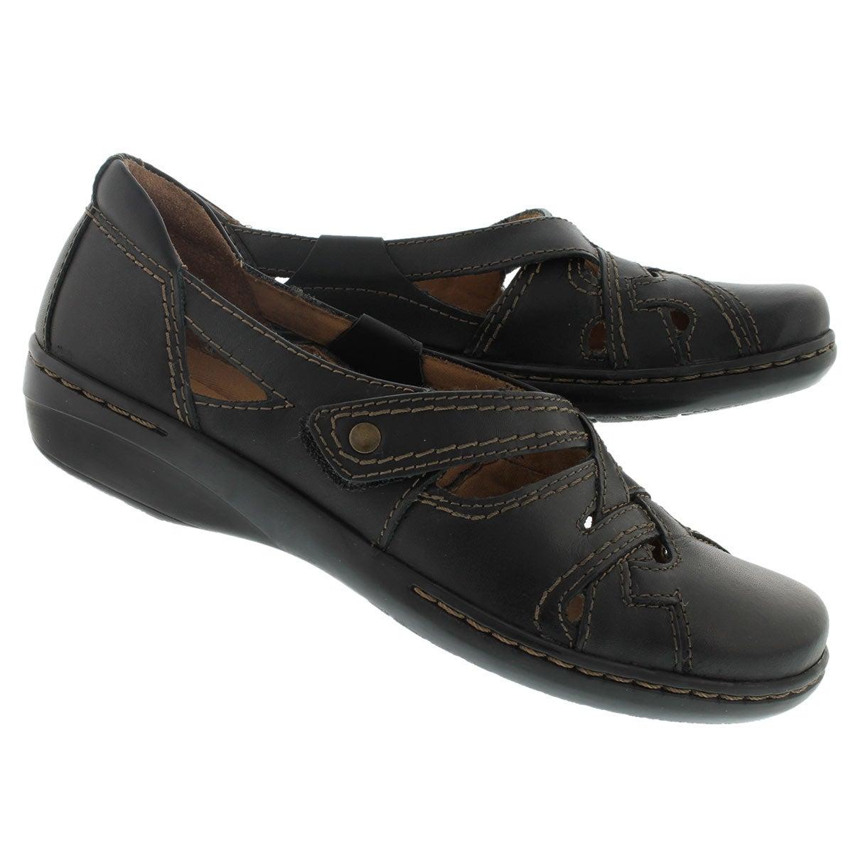 Lds Evianna Peal black slip on shoe