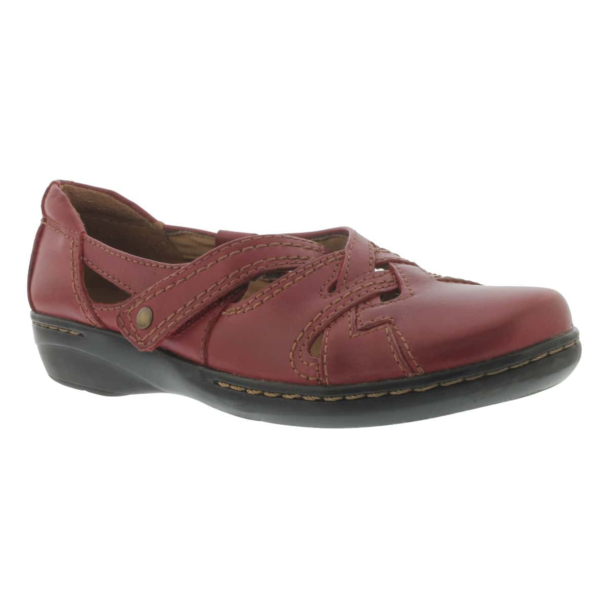 Lds Evianna Peal red slip on shoe