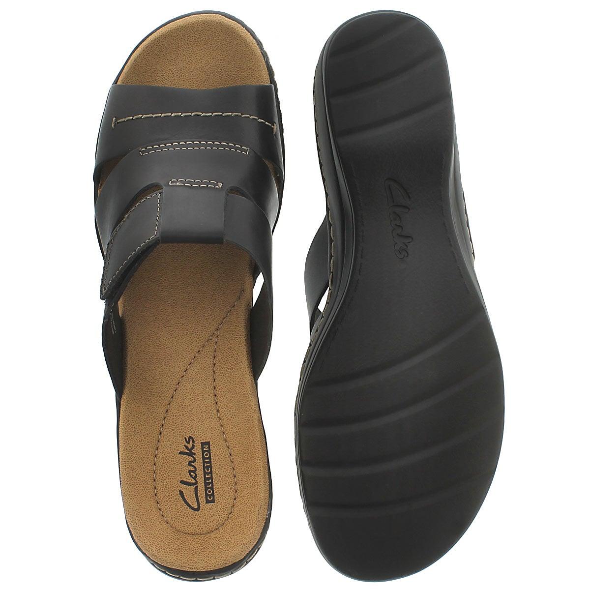 Lds Glacier black casual slide sandal