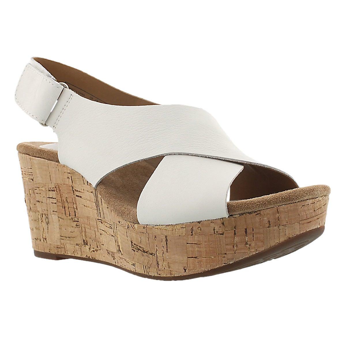 Lds Shae light white wedge sandal
