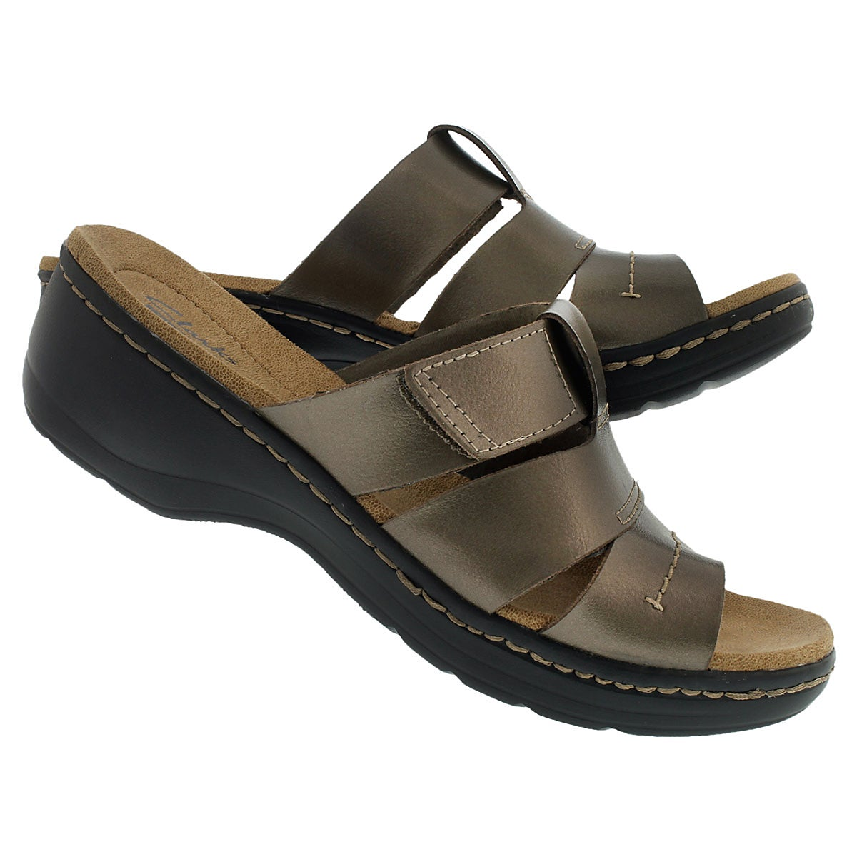 Lds Glacier pewter casual slide sandal