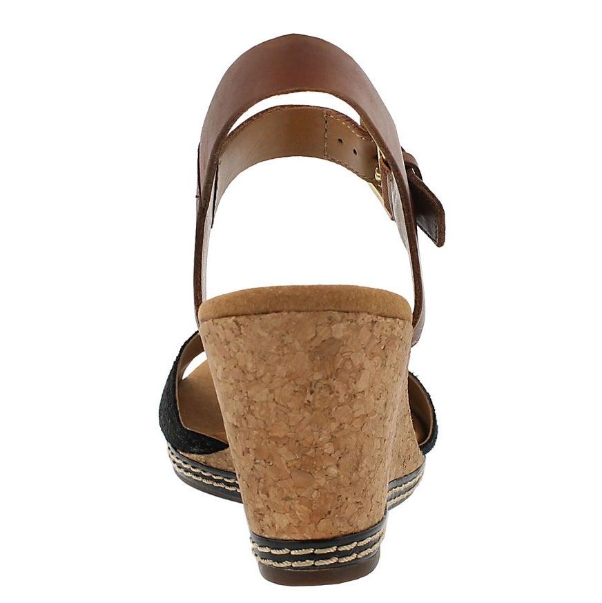 Lds Helio Jet black wedge sandal