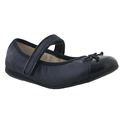 Clarks Infants' DANCE ROSA navy Mary Janes