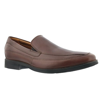 Clarks Men's TILDEN FREE brown dress slip on shoe