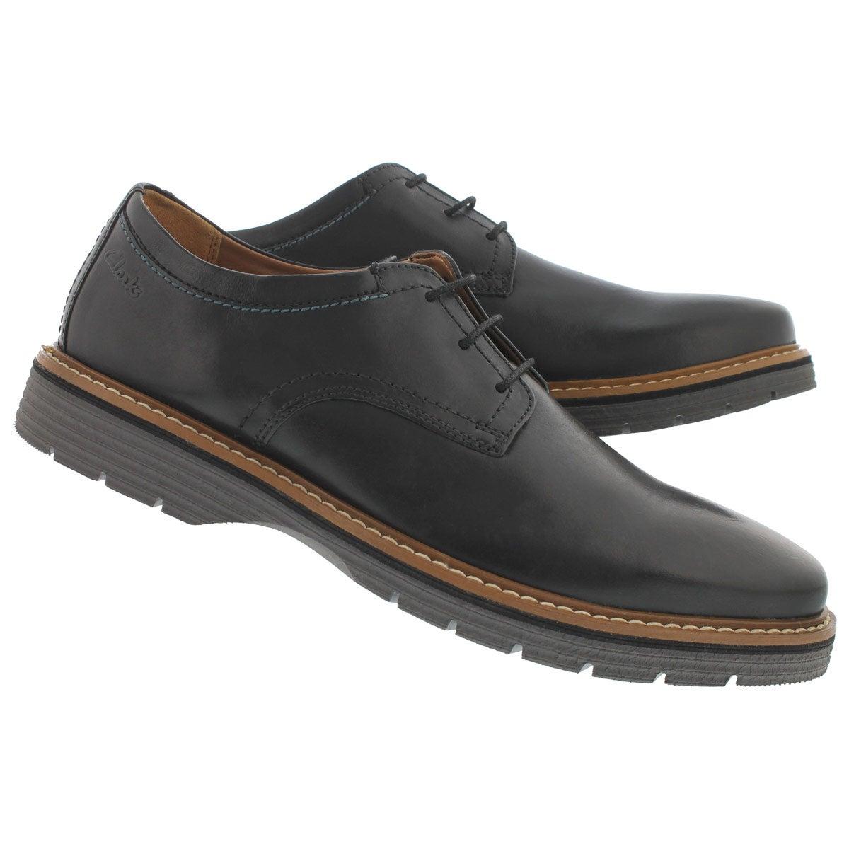 Mns Newkirk Plain blk 3 eye casual shoe