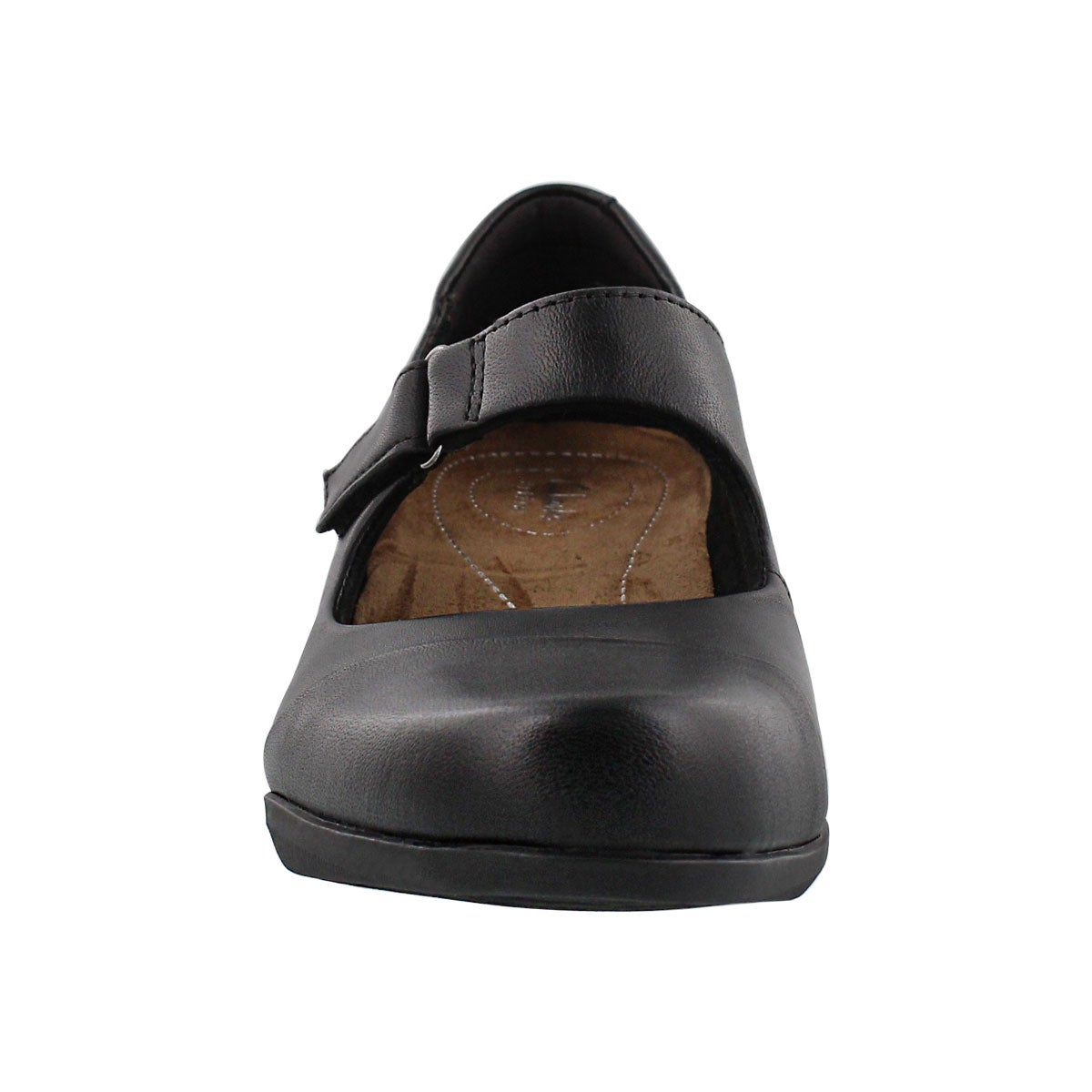 Lds Rosalyn Wren blk maryjane heel-WIDE