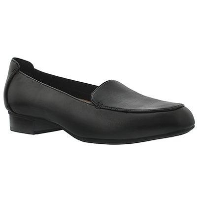 Lds Keesha Luca black loafer - wide