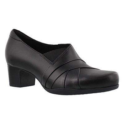 Clarks Women's ROSALYN ADELE black dress heels - Wide