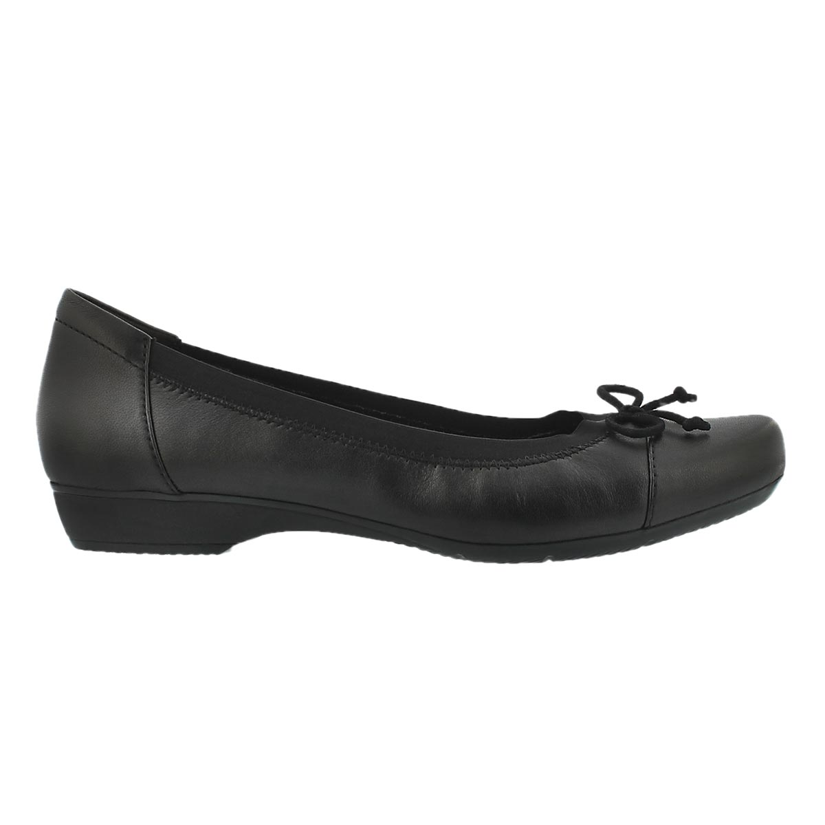 Lds Blanche Nora black dress flat - WIDE