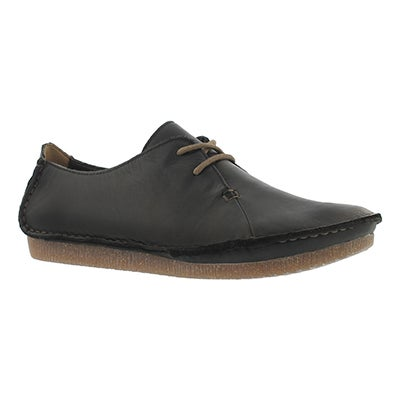 Clarks Women's JANEY MAE black casual oxfords