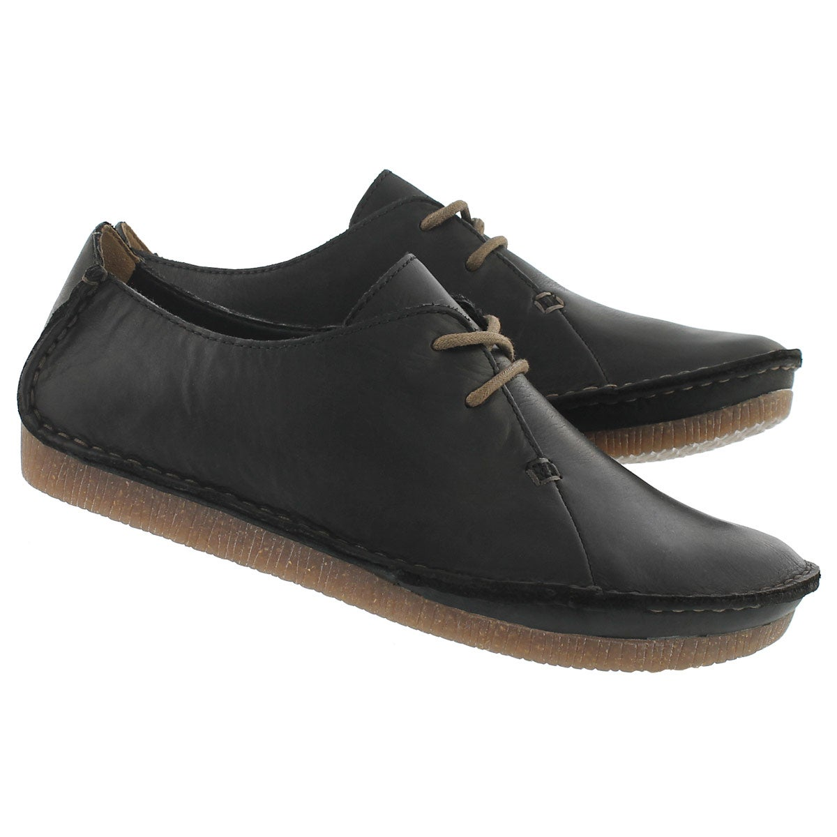 Lds Janey Mae blk casual oxford