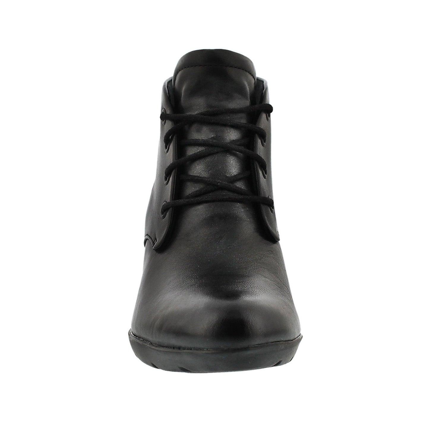 Lds Lucette Drama blk leather bootie
