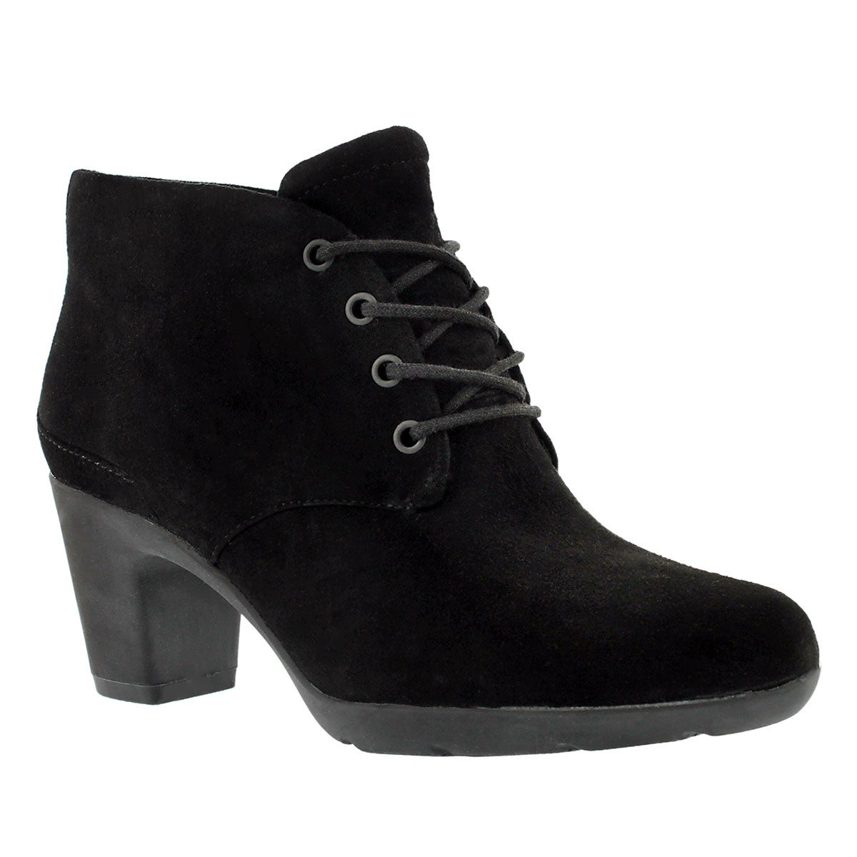 Women's LUCETTE DRAMA black suede dress booties