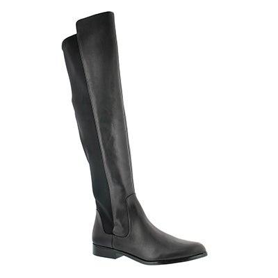 Clarks Women's BIZZY GIRL black tall dress boots