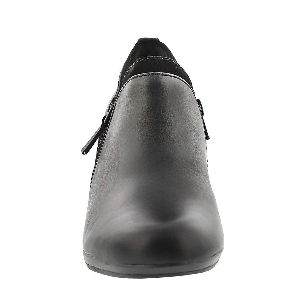 Lds Brynn Fern black slip on dress heel