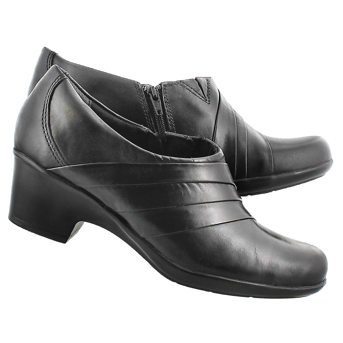 Lds Genette Bend blk slip on dress shoe