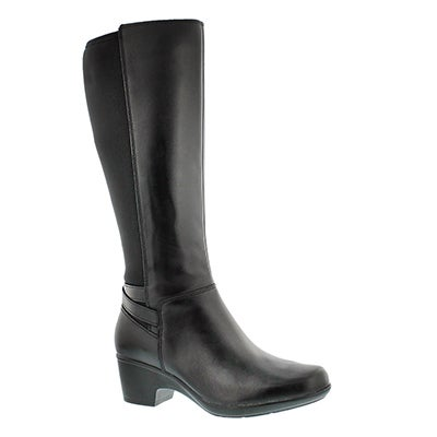 Lds Malia Palms black tall dress boot