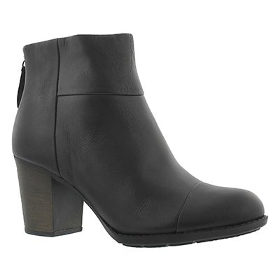 Clarks Women's ENFIELD TESS black dress ankle boots