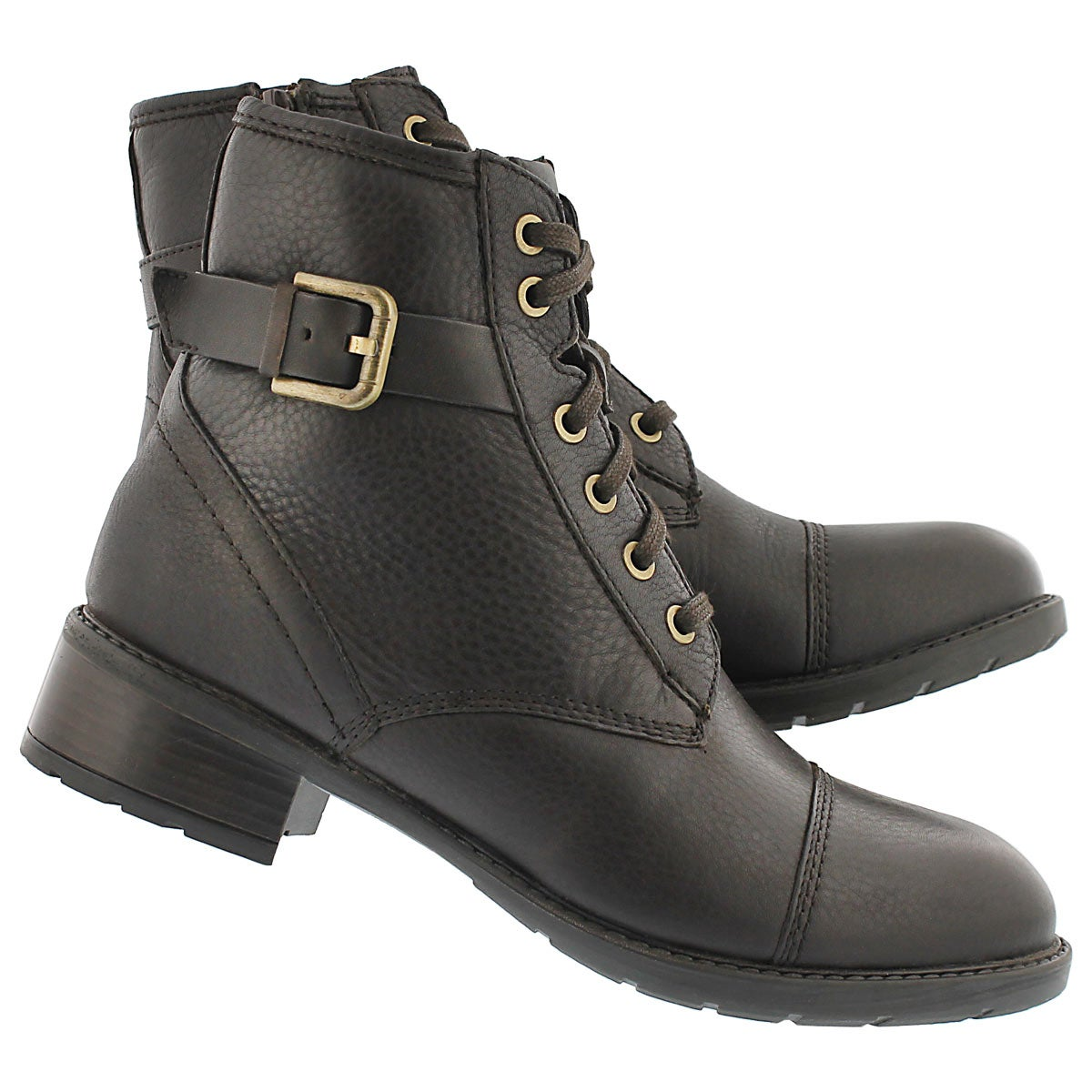 Lds Swansea Ledge dk brown combat boot
